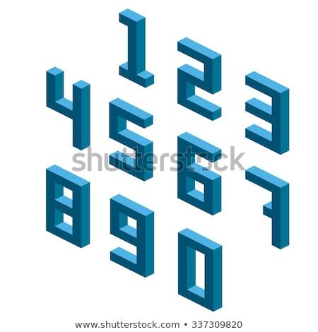 куб сетке числа четыре 3D 3d визуализации Сток-фото © djmilic