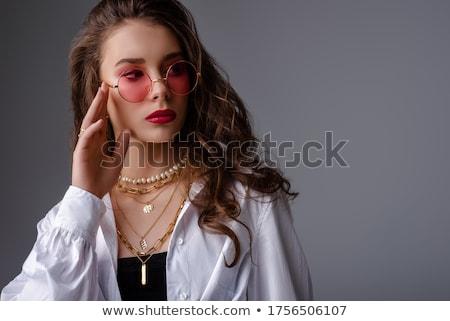 Beleza moda bela mulher jóias retrato Foto stock © serdechny
