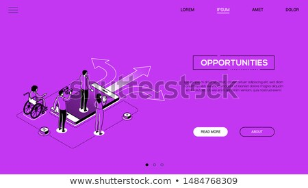 La toma de decisiones línea diseno estilo web Foto stock © Decorwithme
