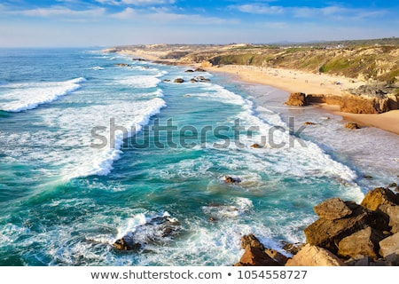 Portekiz sahil güzel plaj gökyüzü doğa Stok fotoğraf © iko