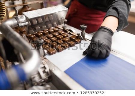 チョコレート マシン 生産 キャンディ ストックフォト © dolgachov