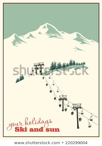 Skiing Winter Activities Sport and Hobby Vector Stock photo © robuart