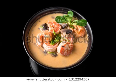 Японский суп Тофу грибы лосося сыра Сток-фото © joannawnuk