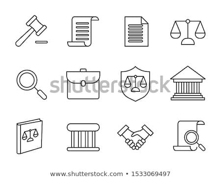 julgamento · documento · lei · ícone · vetor · fino - foto stock © pikepicture