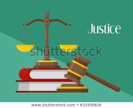 justiça · livros · lei · julgamento · ícone · vetor - foto stock © pikepicture