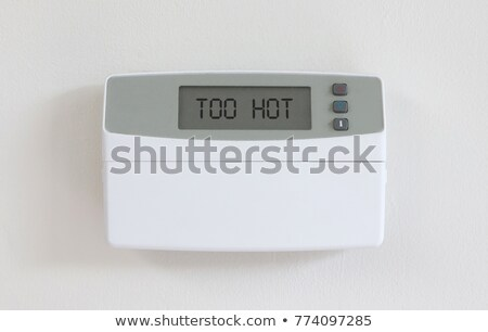Vintage digital thermostat - Covert in dust - Hot Stock photo © michaklootwijk