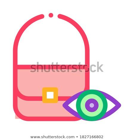 Zak controle inspectie icon vector schets Stockfoto © pikepicture