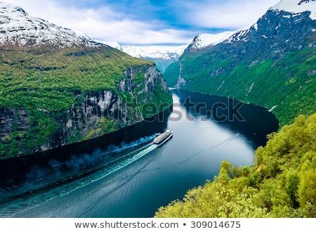 Belo natureza Noruega um turista unesco Foto stock © cookelma