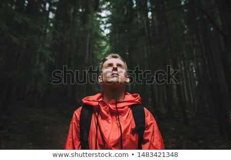 Man traveler in night hike Stock photo © jossdiim
