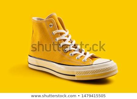 Red classic sneakers Stock photo © karandaev