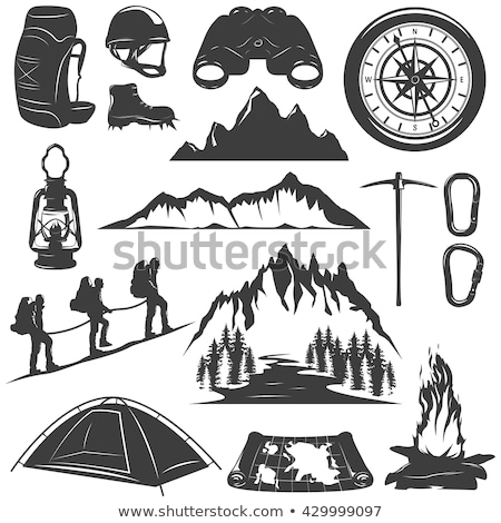 Camping tent sport uitrusting vector icon Stockfoto © pikepicture