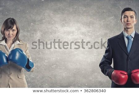 ビジネスマン 女性実業家 側面図 ビジネスの方々  デスク ストックフォト © AndreyPopov
