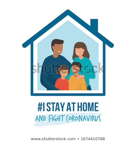 Stay home. Prevention from virus. stay at home awareness social media campaign coronavirus preventio Stock photo © ikopylov