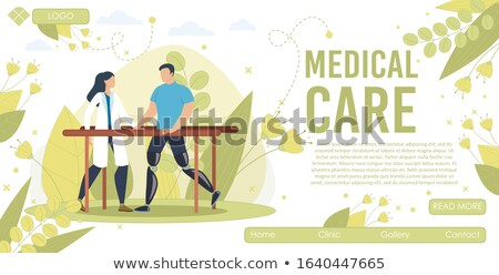 Medical Service with Prosthesis Leg for Man Vector Stock photo © robuart