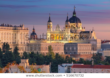 Katedry królewski pałac Madryt Hiszpania panoramę Zdjęcia stock © kasto
