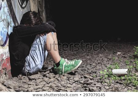 Jeunes adolescents mauvais comportement illustration enfant Photo stock © bluering