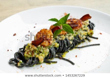 scallop cream pasta Stock photo © olira