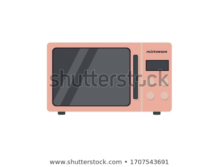 Microwave in flat style illustration on white Stock photo © evgeny89