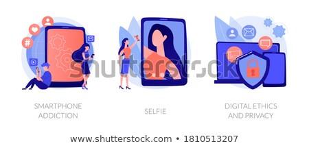 Social network utente popolarità vettore metafora foto Foto d'archivio © RAStudio