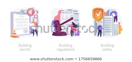 Bâtiment résumé contrôle services demande forme Photo stock © RAStudio