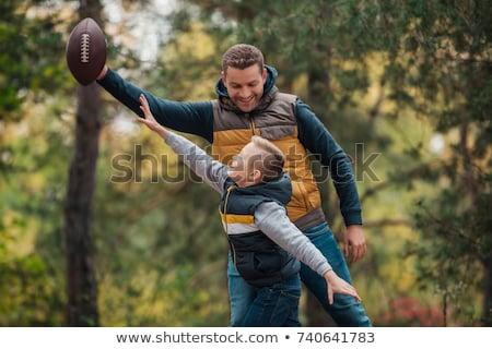 父から息子 演奏 秋 家族 幼年 ストックフォト © dolgachov