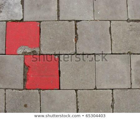 красный тротуар тротуаре текстуры дороги строительство Сток-фото © Melvin07