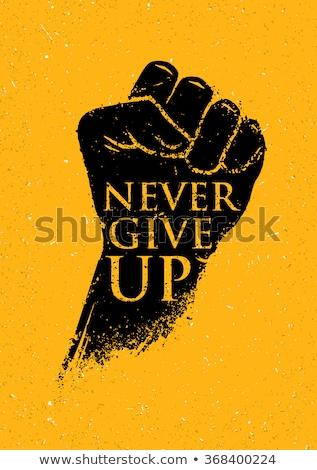 Grunge fist Stock photo © Stocksnapper