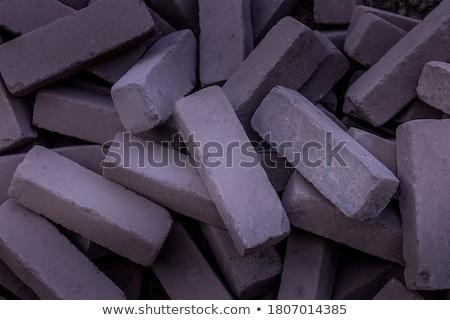 Stockfoto: Rechthoekig · trottoir · stenen · bouw · werk