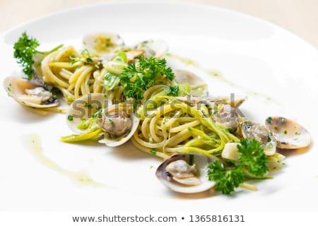 eating spaghetti with clams  Stock photo © Antonio-S