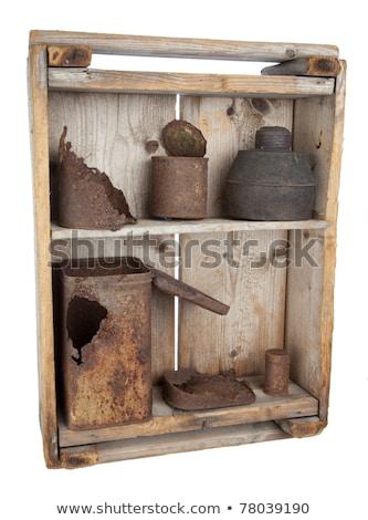 fából · készült · polcok · 3d · render · izolált · fehér · iroda - stock fotó © premiere