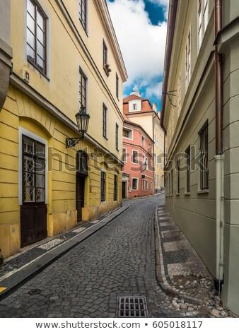 узкий улице Прага шаги здании стены Сток-фото © RuslanOmega