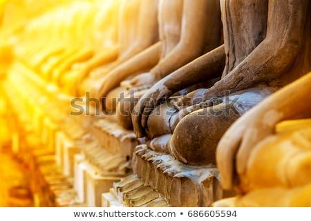 Buda · yüz · altın · Tayland · Asya · Bina - stok fotoğraf © joyr
