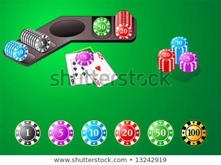 Fiches del casinò poker blackjack tavola giochi altro Foto d'archivio © sahua