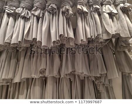 gray ruffled skirt pleated texture Stock photo © lunamarina