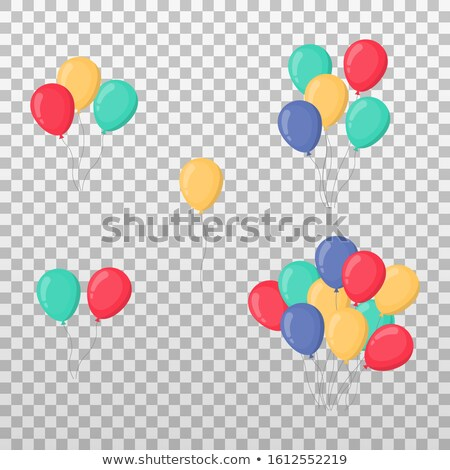 set of colorful balloons  stock photo © Dahlia