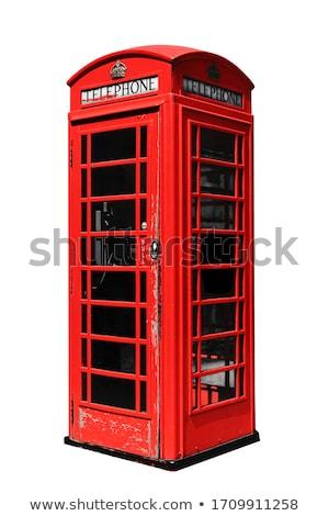 czerwony · telefon · polu · Londyn · ikonowy · telefonu - zdjęcia stock © ribeiroantonio
