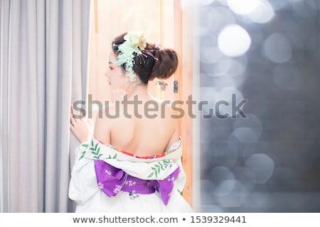 Kız pembe karışık genç kız kadın Stok fotoğraf © pekour