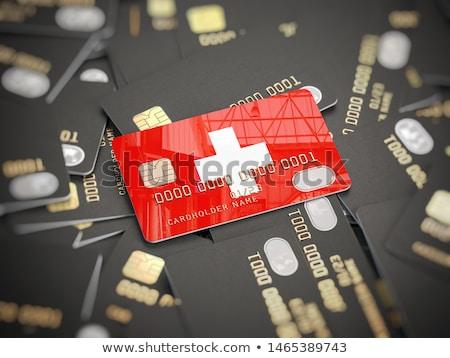 Banku Szwajcaria działalności banderą bezpieczeństwa bezpieczne Zdjęcia stock © kovacevic