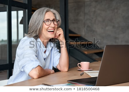 смешные деловая женщина старомодный очки женщину Сток-фото © Elisanth