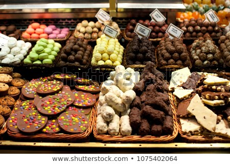 Sweet stall at Boqueria Market in Barcelona - Spain Stock photo © fazon1