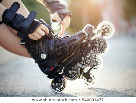 Roller blades skating race Stock photo © photocreo