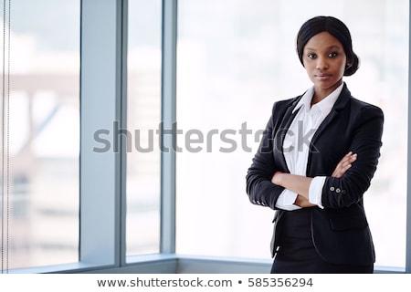 Stock fotó: Nő · fekete · csinos · nő · szem · szépség · fehér