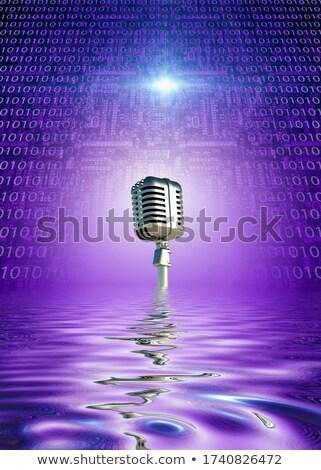 ikili · şarkı · söyleme · karikatür · şarkıcı · şarkı - stok fotoğraf © blamb