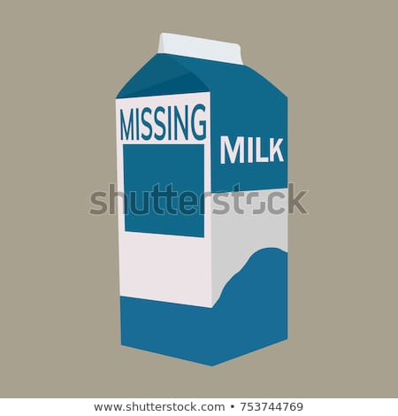 que · falta · leche · persona · Cartoon · cartón - foto stock © blamb