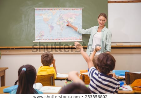 teacher giving a geography lesson stock photo © photography33