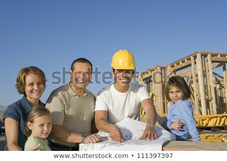 architect with young family at construction site stock photo © photography33