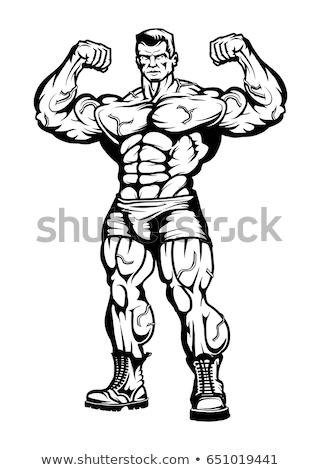 sexy · muscular · hombre · gafas · no - foto stock © feedough