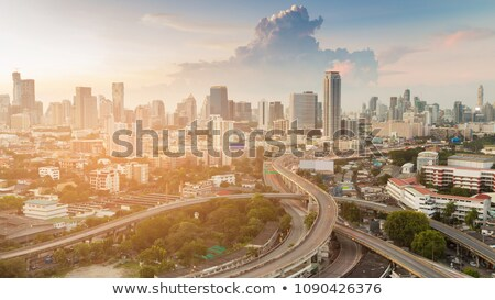 Bangkok · snelweg · schemering · luchtfoto · Thailand · hemel - stockfoto © vichie81