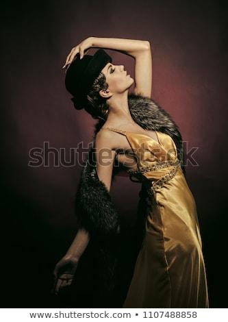 Kabaré hölgy szexi nagy mell pózol Stock fotó © adamr
