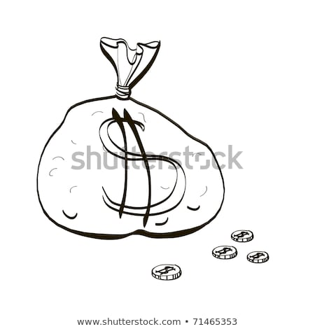 Full bag of money. Children's drawing stock photo © rufous